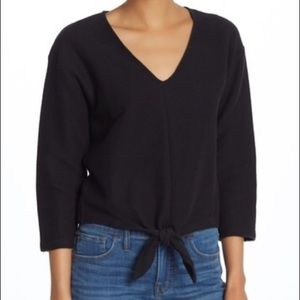 NWT MADEWELL TEXTURE & THREAD Tie Front Top Shirt